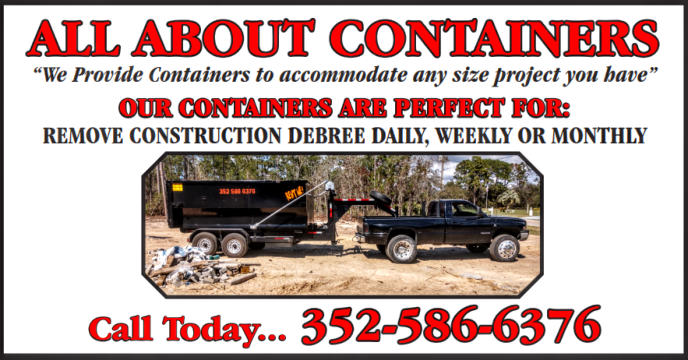 Portable Debris Containers Roll Off Dumpster Rentals Crystal River